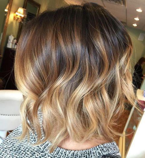 Варианты окрашивания волос балаяж на короткие волосы