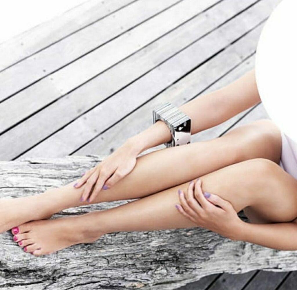 восковая депиляция ноги полностью фото